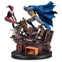 BLOG DOS BRINQUEDOS: Batman vs Harley Quinn Battle Statue
