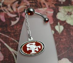 Team Belly Button Ring  49ers by joolrylane on Etsy, $28.00