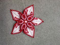Desert Rose Beaded Pendant (pattern from Eridhan Creations)