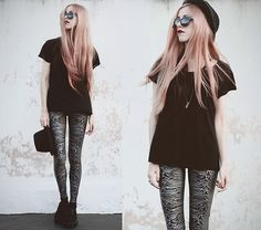 Lovelysally Pulsar 1919 Leggings, Made By Me Shirt, Made By Me Amethyst Necklace, Asos Sunglasses