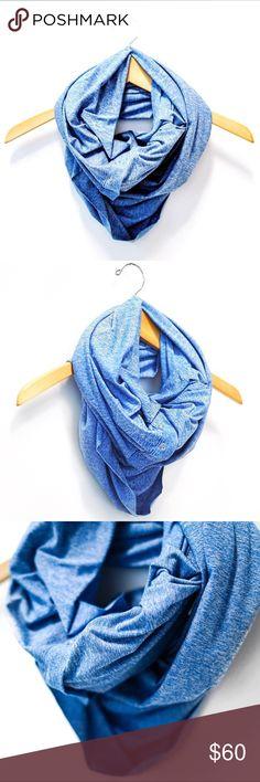 Lululemon scarf - blue Light blue lululemon scarf with buttons! lululemon athletica Accessories Scarves & Wraps