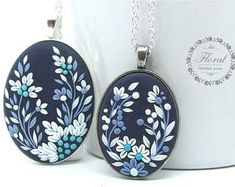 Mom Daughter Jewelry Sets Blue Flower Necklace Mother Daughter Necklace Set Big Little Sisters Necklace for 2 Christmas Gifts