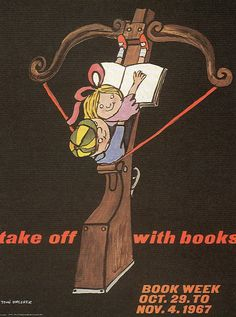 ¤ Take Off With Books (Tomi Ungerer Poster)
