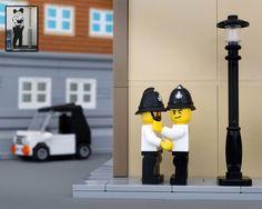 Banksy-Nachbauten: Kunstwerke aus Lego