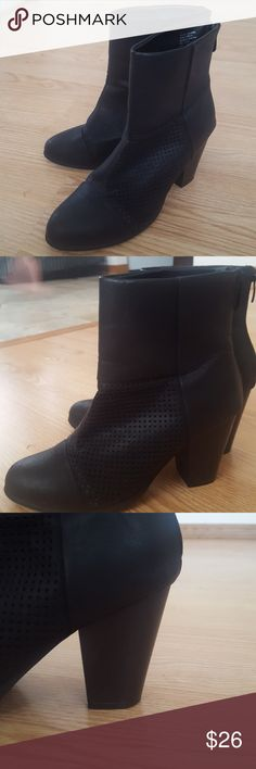 Francesca's Black Mess Booties Fall is coming! I have these really comfortable black heeled booties that I got last fall. They have a cute little detail with the mesh patch. Can be dressed up or down easily! Francesca's Collections Shoes Ankle Boots & Booties