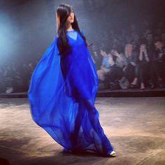 Electrifying blue #martinlim #mfw24 - @patriciagajo- #webstagram