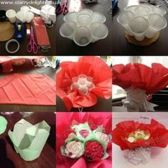 ~Cupcakes bouquet tutorial by Starry Delights Cupcake Flower Bouquets, Edible Bouquets, Flower Cupcakes, Food Bouquet, Strawberry Cupcakes, Easter Cupcakes, Christmas Cupcakes, Cake Decorating Techniques, Cake Decorating Tips