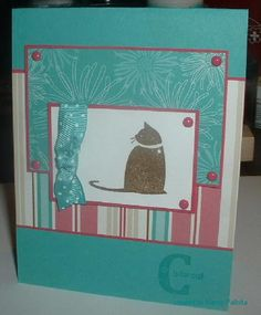 SC236 C is for Cat by crooked river - Cards and Paper Crafts at Splitcoaststampers