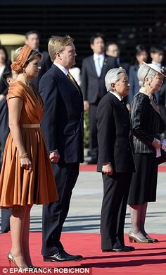 Emperor Akhito-Emperor of Japan and Empress Michiko with King Willem-Alexander of the Netherlands and Queen Maxima
