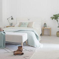 Mosa cabecero Preppy Bedroom, Cosy Bedroom, White Bedroom, Modern Bedroom, Girls Bedroom, Bedrooms, Bedroom Ideas, Home Design Decor, Interior Design