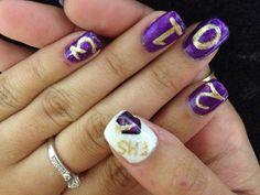 Graduation nail art Cypress Nail Studio  Greenwood, SC