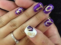 Graduation nail art Cypress Nail Studio  Greenwood, SC