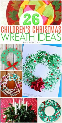 26 Easy Children's Christmas Wreath Ideas - holiday and seasonal decor Childrens Christmas, Toddler Christmas, Simple Christmas, Christmas Themes, Christmas Wreaths, Christmas Activities For Toddlers, Preschool Christmas Crafts, Fun Crafts, Holiday Crafts