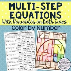 Onestep equations algebra review puzzle FREE High school or