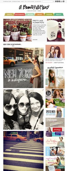 A Beautiful Mess | Blog Design Heroes