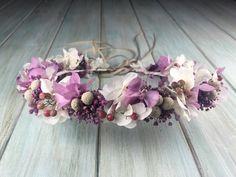 Coronita de flores variadas preservadas - flors & GO! SHOP