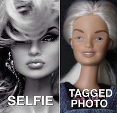 "......the sad part is though, even ""tagged photo"" barbie looks better than my tagged photos hhaahaha"