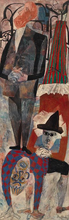 Ben Shahn (1898—1969), Everyman, 1954. Tempera and oil on canvas, 72 1/8 × 24 in. (183.2 × 61 cm). Whitney Museum of American Art, New York; purchase 56.5 © Estate of Ben Shahn, licensed by VAGA, New York