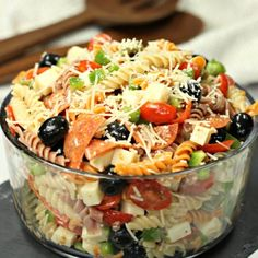 Italian pasta salad recipe is loaded with olives, tomatoes, cheese and more! Easy Italian pasta salad has the best flavor and will be a hit. Pasta salad with Italian dressing is the perfect side dish.Bring this Easy pasta salad recipe to parties, BBQ's an Pasta Salad For Kids, Easy Pasta Salad Recipe, Best Pasta Salad, Summer Pasta Salad, Italian Dressing Pasta Salad, Italian Pasta, Italian Olives, Greek Salad Recipes, Easy Salad Recipes