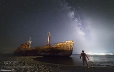 Galaxia The Milky Way over Shipwreck Dimitrios in Gythio Greece Image credit… Landscape Photography, Travel Photography, Photos Of The Week, Milky Way, Virtual World, Night Skies, Greece, Tourism, Universe
