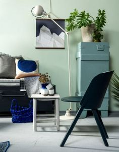 """This black chair is from our feature """"Colour Codes"""""""