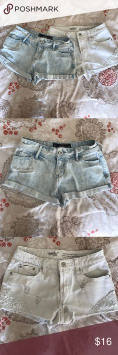 Summer short bundle!! 2 pairs of shorts, I high-rise the other one short-short. Both perfect for the summer! Holister and Target Shorts Jean Shorts