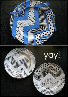 El Rincón Vintage de Karmela: Aprende a decorar platos de cerámica con rotuladores