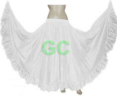 Cotton Gypsy Flamenco Skirt 12 Yard Belly Dance Tribal Costume Ethenic JUPE Boho | eBay