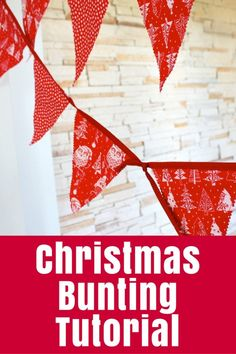 Create easy strings of bunting or flags in any size with this step-by-step bunting tutorial - perfect for Christmas, birthdays and more.