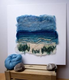 Felt Isle - Wet Felt painting's and textile art by Cathie Palmer based on the Isle of Bute, gallery, shop and contact information Art Textile, Textile Artists, Nuno Felting, Needle Felting, Fabric Art, Felt Fabric, Felt Wall Hanging, Felt Pictures, Creative Textiles