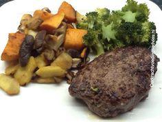Biefstuk met bataat en appel   Oerkracht - Paleo, Puur & meer