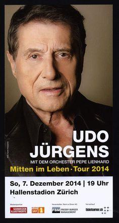 UDO JÜRGENS - MITTEN IM LEBEN - FLYER 2014