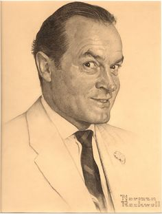Portrait of Bob Hope by Norman Rockwell (painted for the Saturday Evening Post, February 13, 1954)