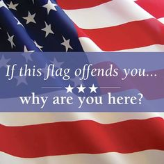 America ~ Our flag only offends those who are only here to cash in on the FREE shit! If they cared at all for FREEDOM, they'd respect us, and our flag! I Love America, God Bless America, We Are The World, In This World, American Pride, American Flag, American Photo, American Soldiers, Thing 1