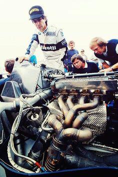 O motor mais poderoso da Nelson Piquet na Brabham BMW Bmw Engines, Race Engines, Ferrari, Lamborghini, Formula 1, Rolls Royce, Carros Bmw, Porsche, Car Engine
