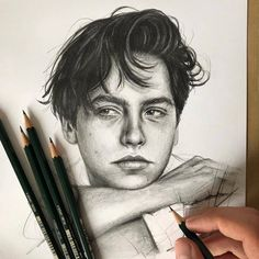 More fantastic from French artist Robin Amar (📷robin_amar) Cole Sprouse Bleistiftzeichnung Hipster Drawings, Art Drawings Sketches, Realistic Drawings, Cute Drawings, Pencil Drawings, Hipster Doodles, Pencil Sketching, Art Illustrations, Pencil Art