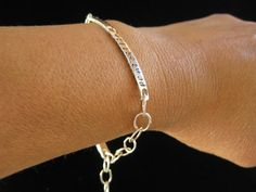Unisex Medical ID Sterling Silver Bracelet Custom by tinyshinyones, $44.00
