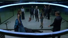 Anthony Hopkins, Sidse Babett Knudsen, Jeffrey Wright, Luke Hemsworth, Angela Sarafyan, and Tessa Thompson in Westworld (2016) - Click to expand