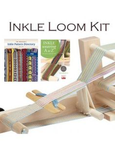 Quickly weave up belts and bands on this easy-to-store Inkle loom. Inkle Weaving Kit with book, DVD, belt shuttle, and inkle loom