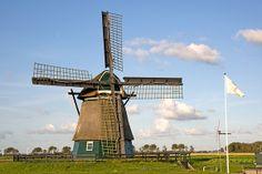 Polder mill De Grebmolen, Schoorldam, the Netherlands.