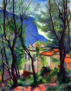 The House Among The Trees, Villecroze - Henri Manguin