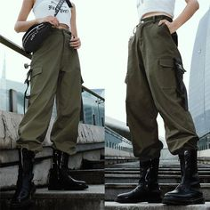Girls Cargo Pants, Baggy Cargo Pants, Green Cargo Pants, Tactical Cargo Pants, Baggy Pants Outfit, Casual Pants, Combat Pants, Military Pants, My Guy