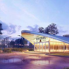 @archirost  #render #corona #night #rain #light #3dsmax #archirost #renderbox #architecture #archi #archilovers #3dart #moscow #metro by renderbox.ru