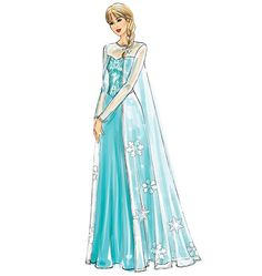 Frozen Costumes Pattern With Dresses for Elsa and Anna in Girls' or Misses' Sizes – McCall's Costume Sewing Pattern - Kids costumes Snow Queen Costume, Anna Costume, Frozen Costume, Costume Patterns, Dress Patterns, Cape Dress, Dress Up, Elsa Cosplay, Winter Princess