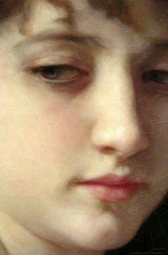 """""""Baigneuse Accroupie (Seated Bather)"""" detail - French artist - William-Adolphe Bouguereau 1884"""
