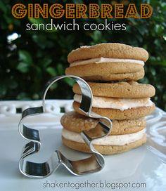 Gingerbread Sandwich Cookies <3