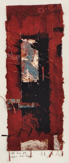 D-29.Aug.1989 copper and paper/ collage 林孝彦 HAYASHI Takahiko