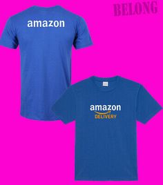 Amazon Prime Delivery Logo New Men\'s Blue Font Back T-Shirt Tee Size S-XXL USA #fashion #clothing #shoes #accessories #mensc