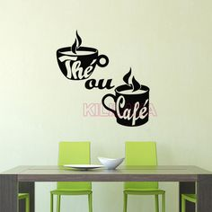 Aliexpress.com : Buy Stickers French Cuisine Vinyl Wall Decal Tea or Coffee Wall Art Wallpaper Wall Sticker Kitchen Tile Decal Home Decor Decoration from Reliable home decoration painting suppliers on Kililaya