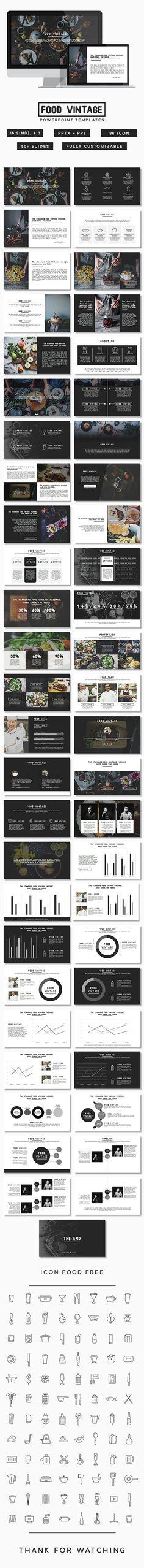 Food Vintage Presentation (PowerPoint Templates)